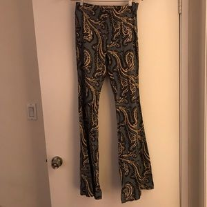 Free people paisley bell bottoms